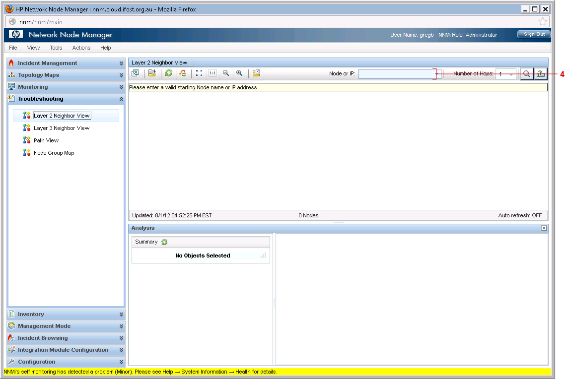 E-learning Sample: Network Node Manager - Layer 2 Neighbour View